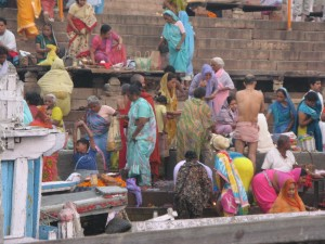 Bathing on the Ganges, Varanasi, India